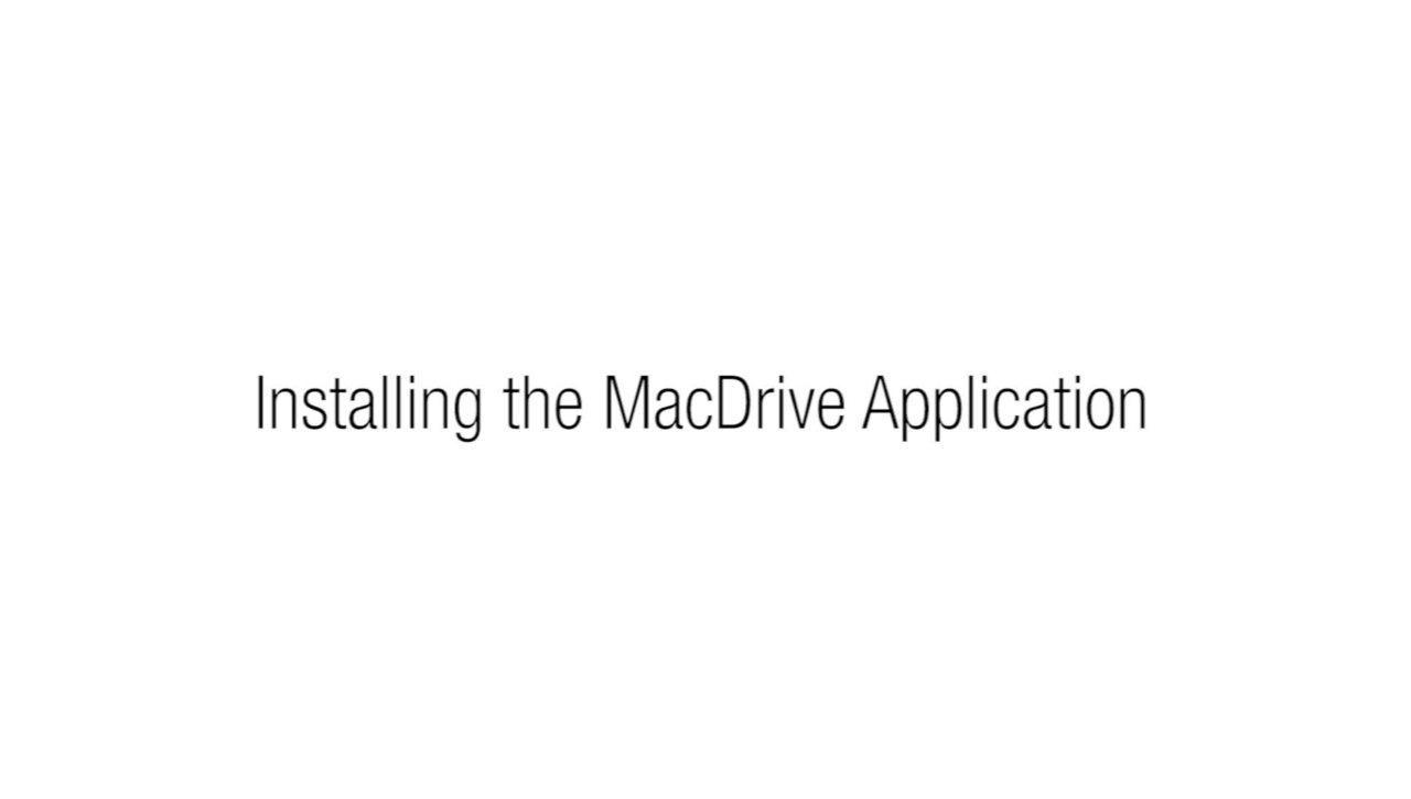 2.1 - Method 1- Login by installing the MacDrive application