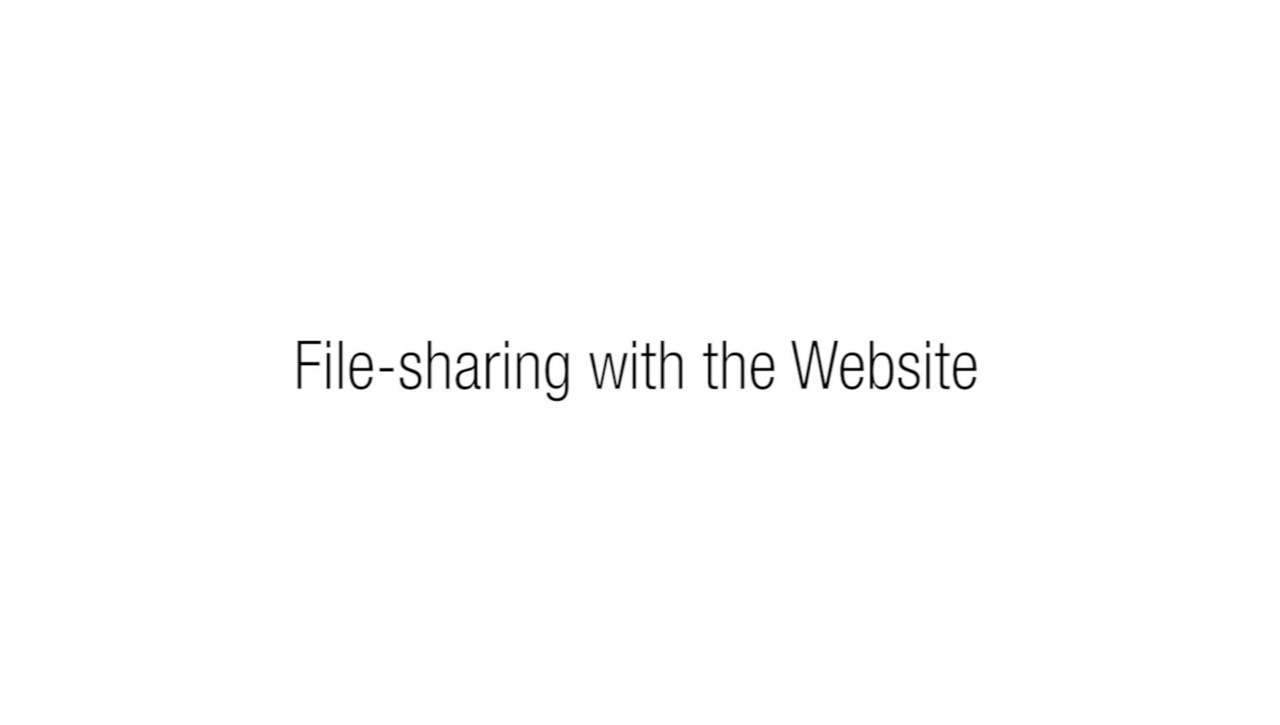 3.3 - File Sharing with the Website