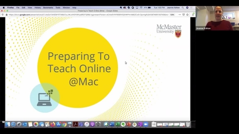 Thumbnail for entry Preparing to Teach Online