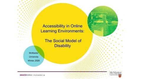 Thumbnail for entry 02 Social Model of Disability