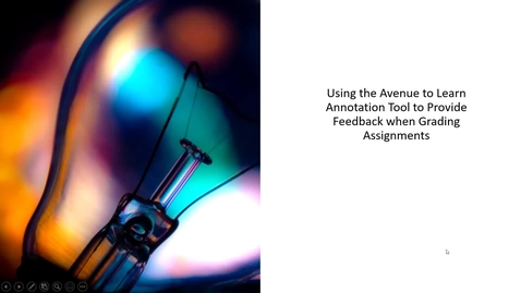 Thumbnail for entry Using the Avenue to Learn Annotation Tool to Provide Feedback when Grading Assignments