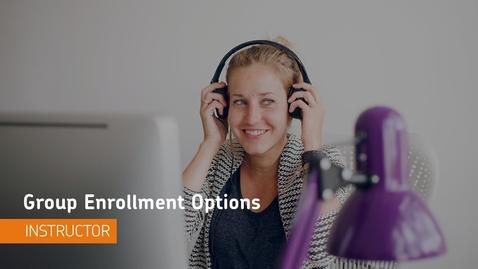 Thumbnail for entry D2L Groups - Enrollment Options