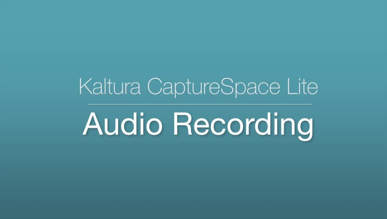 CaptureSpace - Audio Recording