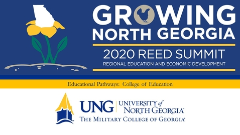 Thumbnail for entry 2020 REED Summit:  Educational Pathways Interview with Dr. Sheri Hardee,  Dean, College of Education, University of North Georgia
