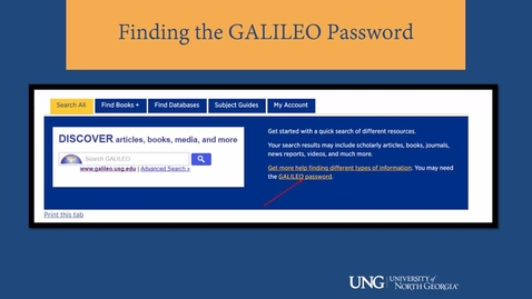 Thumbnail for entry Where's the Galileo Password?