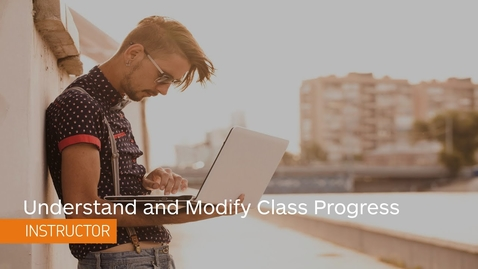 Thumbnail for entry D2L Class Progress - View and Customize Class Progress