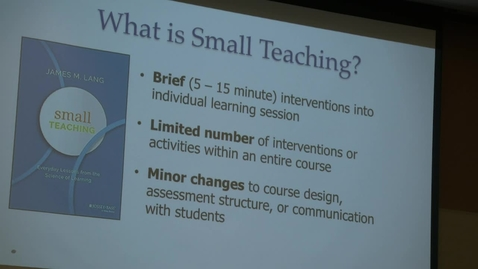 Thumbnail for entry Chancellor's Learning Scholars: Small Teaching - Video 5