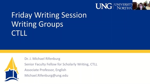 Thumbnail for entry 2-26-2021 Friday Writing Session - Building and Sustaining Writing Groups