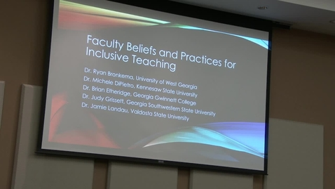 Thumbnail for entry ACTIVE-Chancellor's Learning Scholar: Inclusive Pedagogies - Video 3