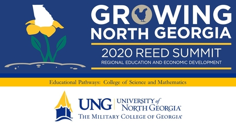 Thumbnail for entry 2020 REED Summit Educational Pathways:  Interview with Dr. John Leyba, College of Mathematics and Science and  Dr. Linda Purvis, Associate Professor of Biology,  University of North Georgia