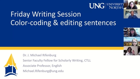 Thumbnail for entry 3-12-2021 Friday Writing Session - Color-Coding and Editing Your Sentences