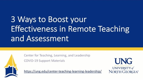 Thumbnail for entry Working From Home Series: Three Ways to Boost Your Effectiveness in Remote Teaching and Assessment