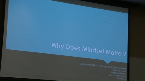 Thumbnail for entry Chancellor's Learning Scholars: Mindset - Video 2