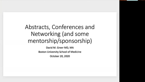Thumbnail for entry Abstracts, Conferences and Networking