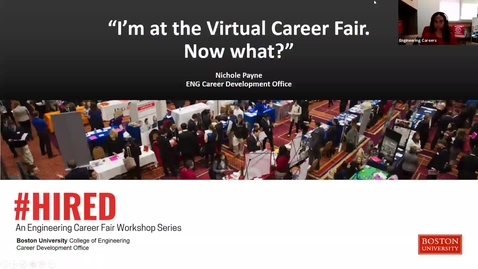 "Thumbnail for entry #HIRED: ""I'm at the Virtual Career Fair. Now what?"""