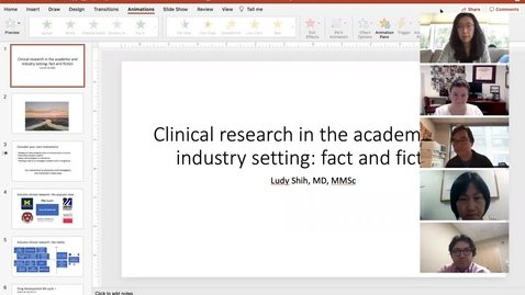 Thumbnail for entry Clinical research in the academic and industry setting: fact and fiction