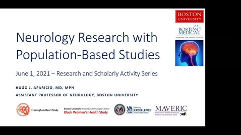 Thumbnail for entry Neurology Research with Population-Based Studies