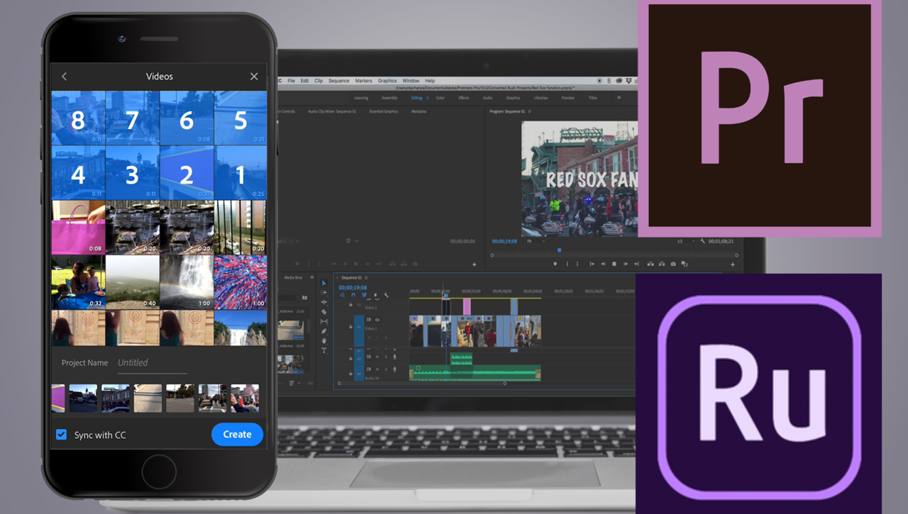 How to Create an Adobe Rush Project: Open an Adobe Rush Project in Premiere