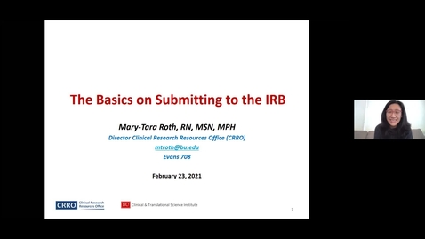 Thumbnail for entry The Basics of Submitting to the IRB