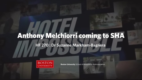 Thumbnail for entry SHA Master Class: HF 270  - Anthony Melchiorri