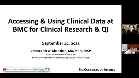 Thumbnail for entry Accessing and Using Clinical Data at BMC for Clinical Research and QI