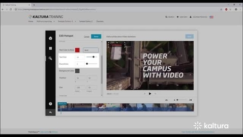 Thumbnail for entry How to Create and Manage Hotspots?