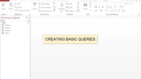Thumbnail for entry Create Basic Queries
