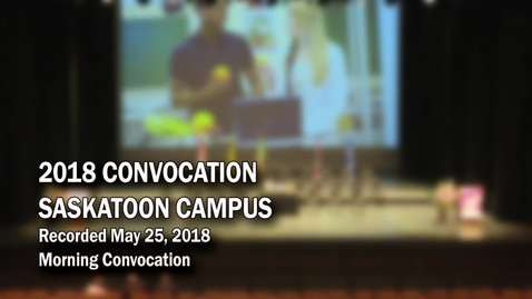 Thumbnail for entry Convocation Stoon AM 2018