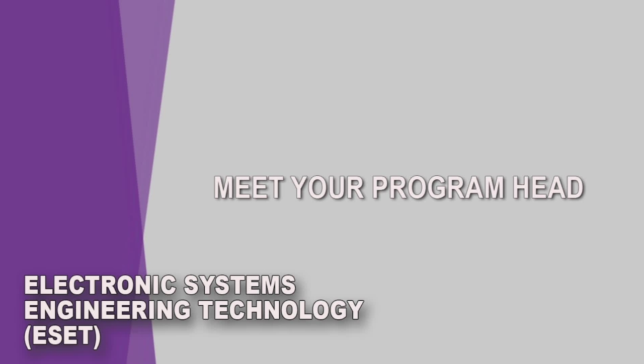 Electronic Systems Engineering Technology (ESET) Student Orientation