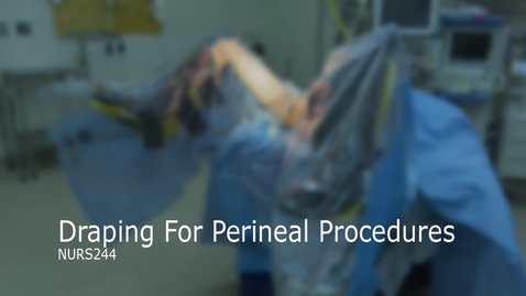 Thumbnail for entry NURS244-Draping for Perineal Procedures