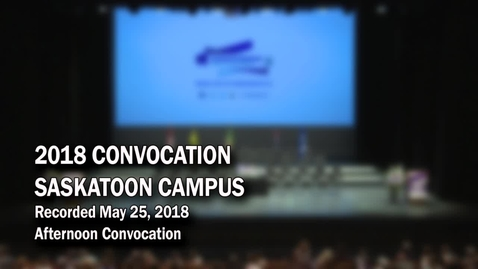 Thumbnail for entry Convocation Stoon PM 2018
