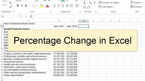 Thumbnail for entry Percentage Change in Excel