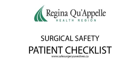 Thumbnail for entry NURS 202 Surgical Safety Checklist