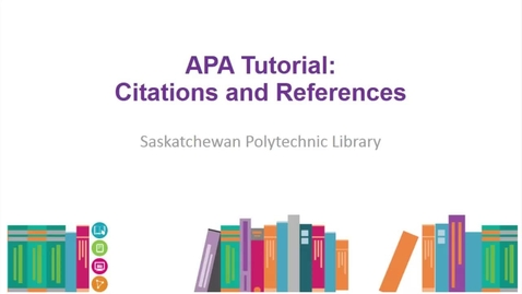 Thumbnail for entry APA Tutorial: Citations & References