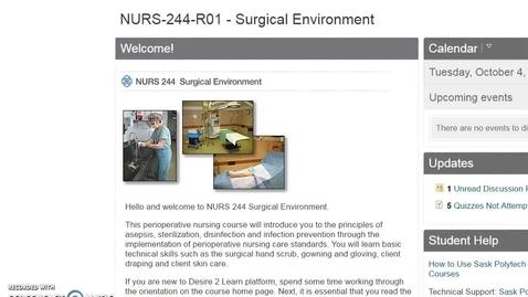 Thumbnail for entry NURS 244 Orientation Video