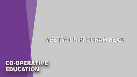 Thumbnail for entry Co-operative Education Student Orientation