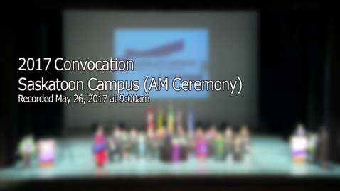 Thumbnail for entry Convocation 2017 Stoon AM