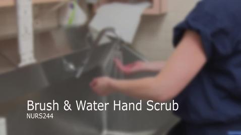 Thumbnail for entry NURS244-Brush & Water Hand Scrub