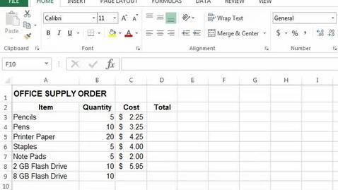 Thumbnail for entry Excel Basics Demo