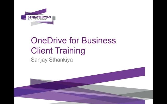 Training - Microsoft OneDrive