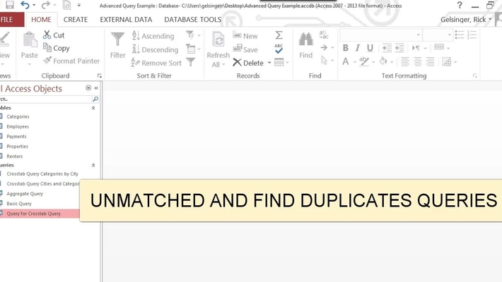 Unmatched and Duplicate Queries