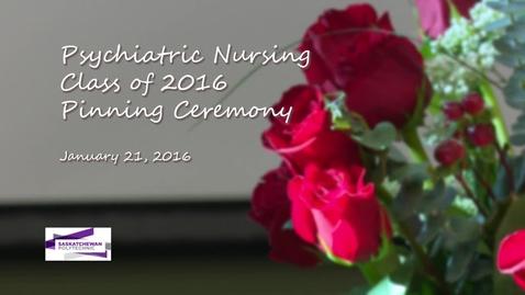 Thumbnail for entry Psych Nursing Pinning Jan 2016