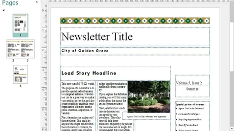 Thumbnail for entry Create a Newsletter using Publisher