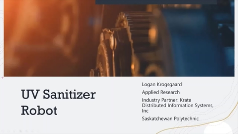 Thumbnail for entry Applied Research UV Sanitizer Robot Logan K