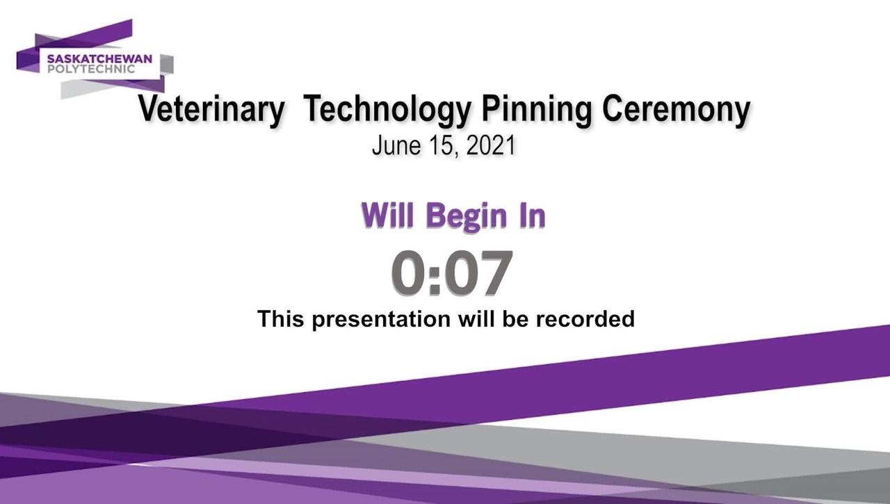 Veterinary Technology Virtual Pinning Ceremony June 15, 2021