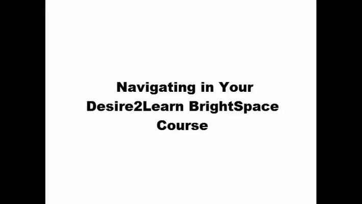 A Basic Introduction to your D2L Learning Environment