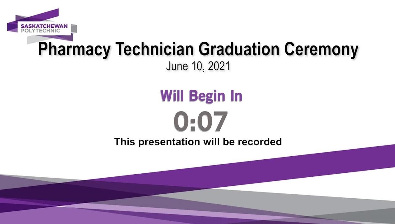 Pharmacy Technician Virtual Pinning Ceremony June 10, 2021