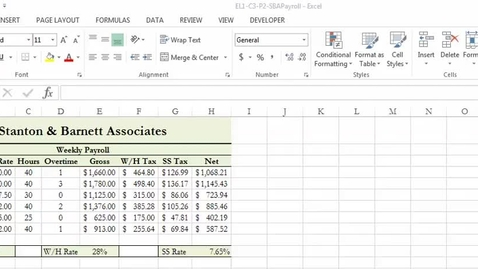 Thumbnail for entry Show Formulas in Excel