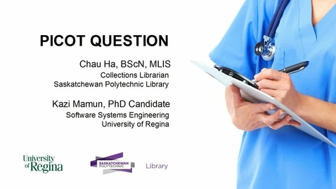 Thumbnail for entry PICOT Question: Formulating a Research Question