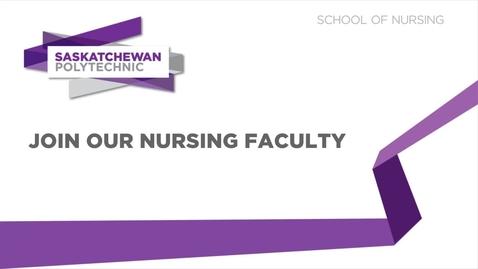 Thumbnail for entry Saskatchewan Polytechnic - Nurses Recruitment